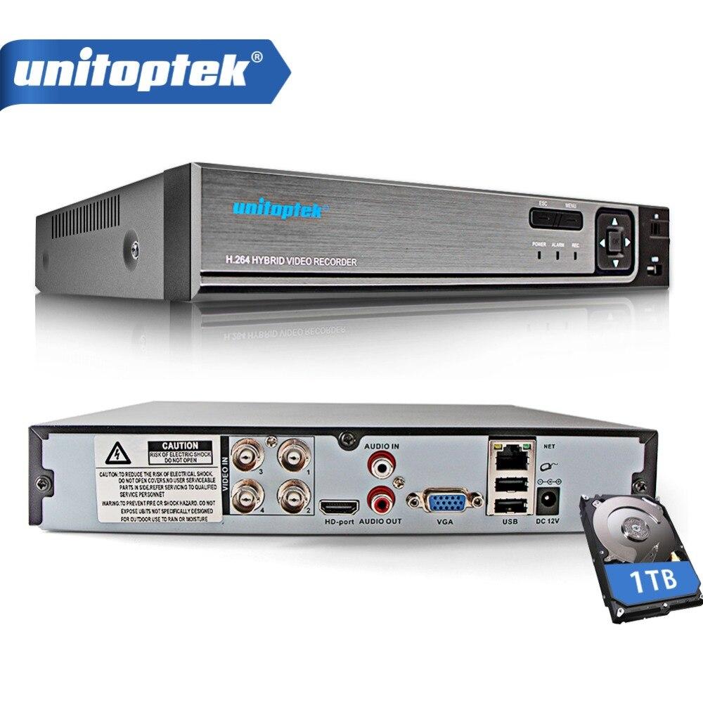 5 DANS 1 4Ch 8Ch 1080N CCTV DVR NVR XVR Vidéo Enregistreur Pour analogique AHD CVI TVI IPC CCTV DVR HVR P2P XMEye Hybride de Sécurité DVR Onvif