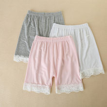Toddler Children Kid Baby Girls Solid Lace Safety Pants Shorts Underwear Clothes(China)