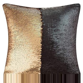 Black Gold Sequin Cushion Cover