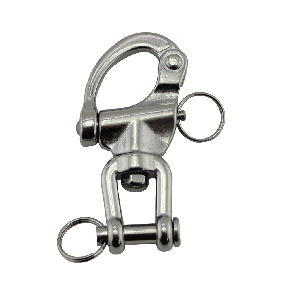 128mm largest size Jaw Swivel Snap Tack Shackle for Sailboat - 316 Stainless Steel mayitr 316 stainless steel swivel shackle quick release boat anchor chain eye shackle swivel snap hook for marine architectural