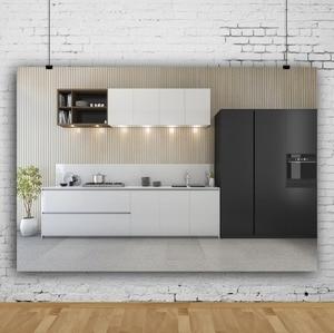 Image 2 - Laeacco Moderne Keuken Photophone Potplanten Kast Kookplaat Fotografie Achtergronden Interieur Decor Foto Achtergronden Photozone
