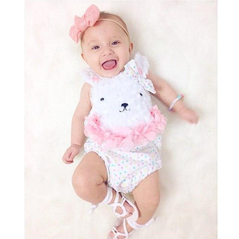 baby girl romper bawełna bez rękawów baby girl letnie ubrania - Odzież dla niemowląt - Zdjęcie 1