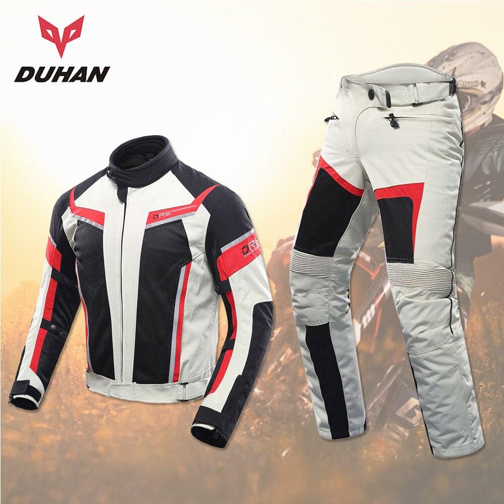 DUHAN, мужская и женская мотоциклетная куртка, летние штаны, дышащая гоночная куртка, костюмы для влюбленных, мотоциклетные штаны для верховой