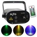 AUCD Мини Портативный ИК-пульт 20 моделей красный зеленый лазерный проектор света и 3 Вт Светодиодная лампа микс эффект сценическое освещение ...