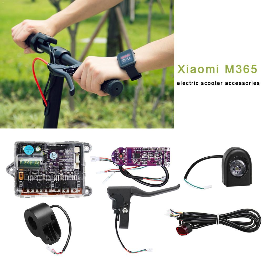6pcs Scooter Circuit Motherboard Controller + Dashboard + Headlight + Taillight + Brake + Accelerator For Xiaomi M365 Scooter