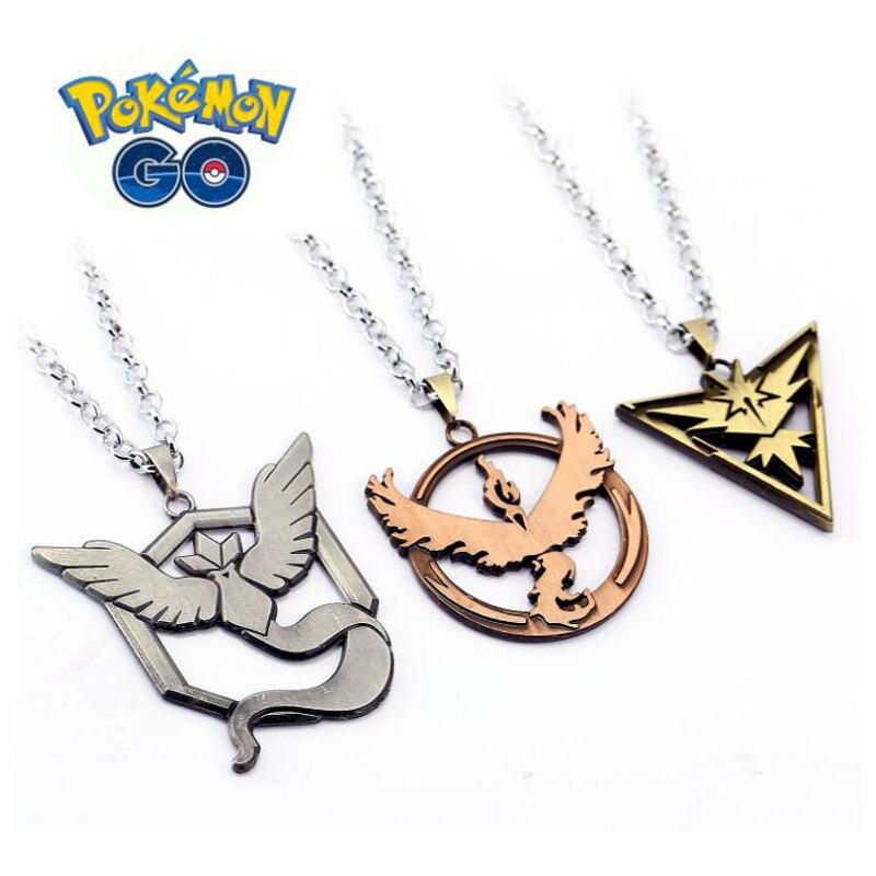 ORP Anime game theme products Pokemon Go nceklace Frozen Bird Lightning Bird Flaming Bird Logo Pendant necklace wholesale