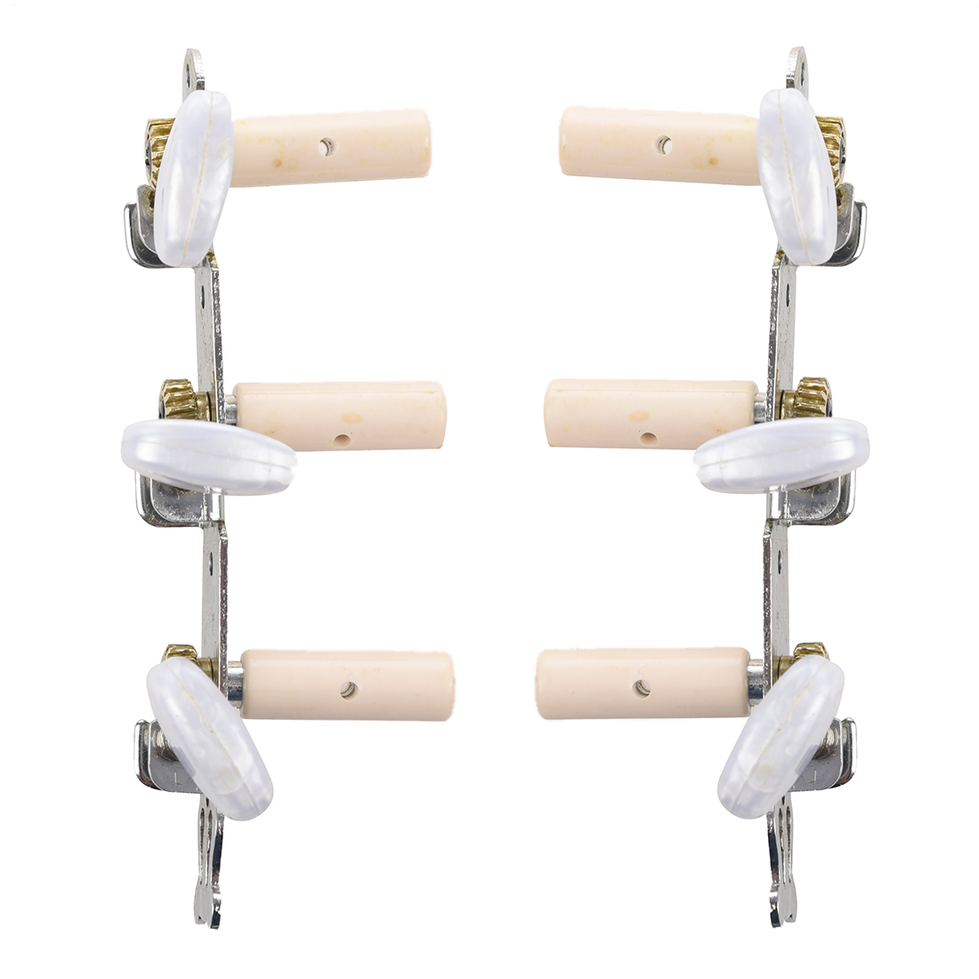 12pcs (6pcs Classical Guitar Tuning Pegs Machine Heads Oval Button 2 pcs per set high end classical guitar tuning pegs machine heads gold button color 1 18 ratio