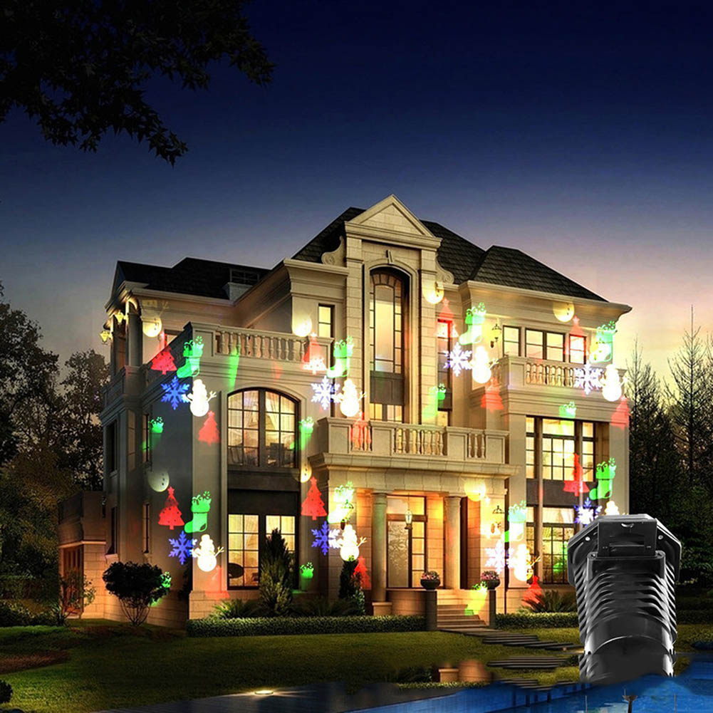 Christmas Outdoor Projector DJ LED Stage Light Heart Snow Spider Bowknot Bat Landscape Party Lights Garden Lamp Lighting Sale стулья для салона led by heart 2015