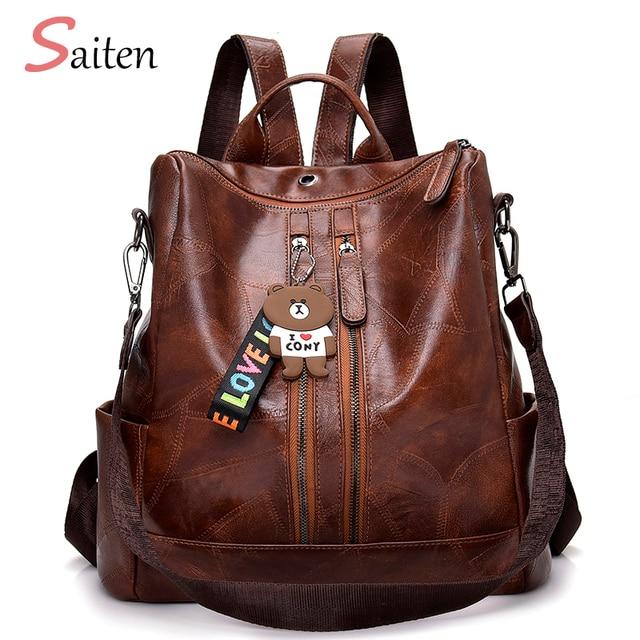 6460c671e60b 2019 Fashion Women Backpack High Quality Youth Leather Backpacks For  Teenage Girls Female School Shoulder Bag