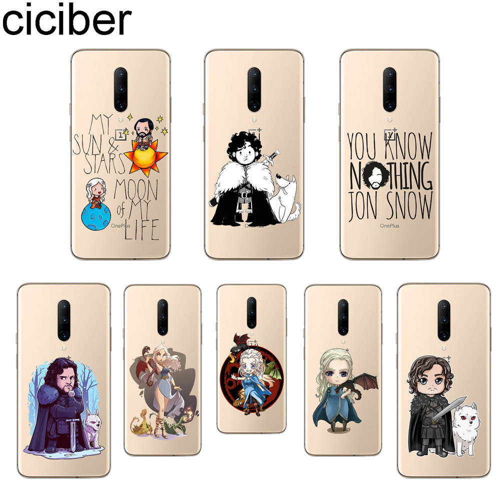 ciciber Game of Thrones Phone Case For font b Oneplus b font font b 7 b