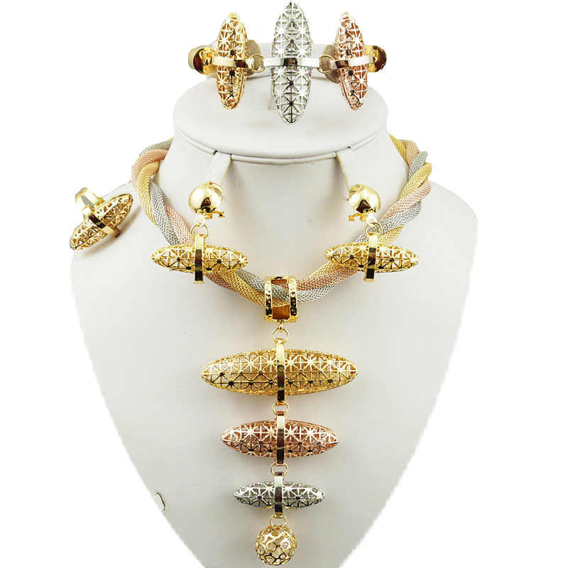bridal jewelry set super quality  african big  jewelry sets best quality costume gold jewelry set women necklace wedding sets