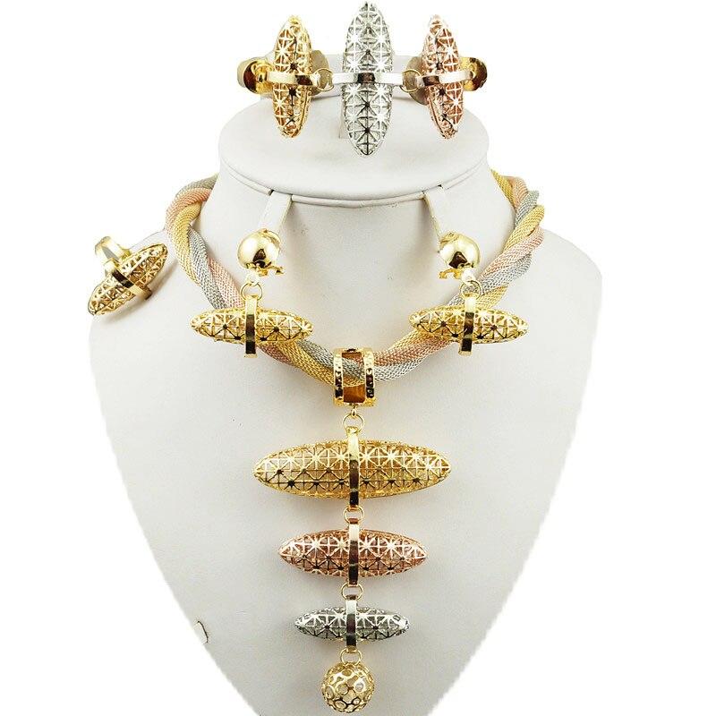 Goede Bruids sieraden set super kwaliteit afrikaanse grote sieraden sets RJ-11