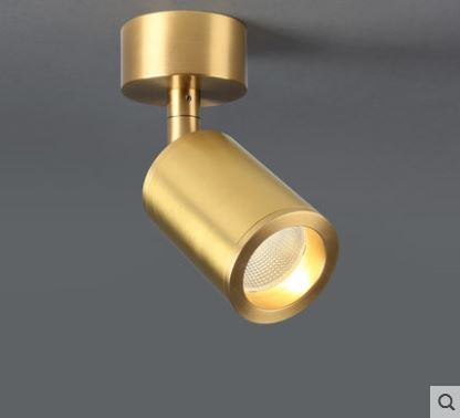 Ceiling Lights & Fans Led Wall Mounted Spotlights All Copper Nordic Simple Downlights Gold Bar Table Living Room Ceiling Free Opening Lamp Ceiling Lights