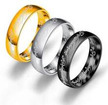 New Stainless Steel One Ring of Power the Lord of One Ring Lovers Women Men Fashion Jewelry Wholesale Drop Shipping(China)