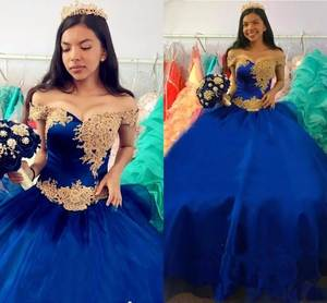 BONJEAN Royal Blue Quinceanera Dresses Ball Gown debutante