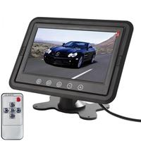 7 Inch TFT LCD Stand Car Monitor Headrest Car Rear View DVD VCR Camera GPS Monitor Built in TR Transmitter 800x480 RGB