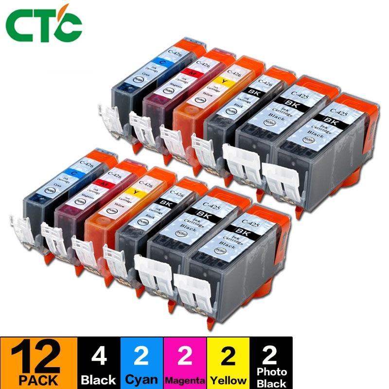 12PK PGI-425 CLI-426 ink cartridge compatible for Canon PIXMA MG6140 Inkjet Cartridge MG6240 MG8140 MG8240 printer ink