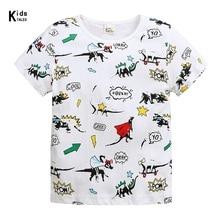 New Summer Baby T Shirt For Boys Girl Kids Clothes Short Sleeve Cartoon dinosaur T-Shirt Baby Boy Clothes Toddler Tops Tee newest baby girl tops shirt kids child toddler soft cotton fall t shirt tee