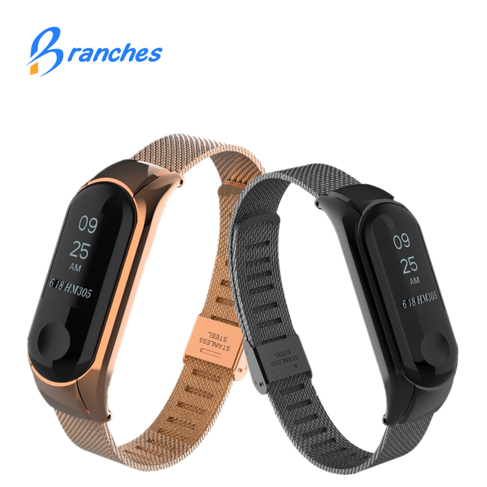 NEW Mi band 3 strap bracelet for Xiaomi mi band 3 Metal Strap wrist strap Screwless Stainless Steel Bracelet Wristbands MiBand 3 bracelet