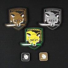 Металлическая Экипировка, твердая эмблема Foxhound, нашивка, форма, ПВХ нашивка, нашивка Militaria Fox Hound, специальная группа, нашивки