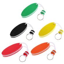 5pcs/set Mixed Color Oval Shaped EVA Foam Floating Key Ring Boat Keychain Water Sports Safety Buoyant Key Holder все цены