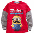 Children Cotton Long-Sleeve Sweater Autumn and Winter Sweater Cute Minions Pattern Boys Sweater