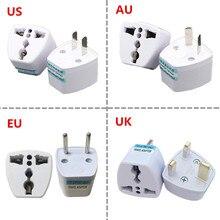 1 adet evrensel abd İngiltere AU ab tak abd Euro avrupa seyahat duvar AC güç şarj çıkışı adaptörü dönüştürücü 2 yuvarlak Pin soket