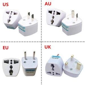 Image 1 - 1PC Universal US UK AU Zu EU Stecker USA Zu Euro Europa Reise Wand Ladegerät AC Outlet Adapter konverter 2 Runde Pin Buchse