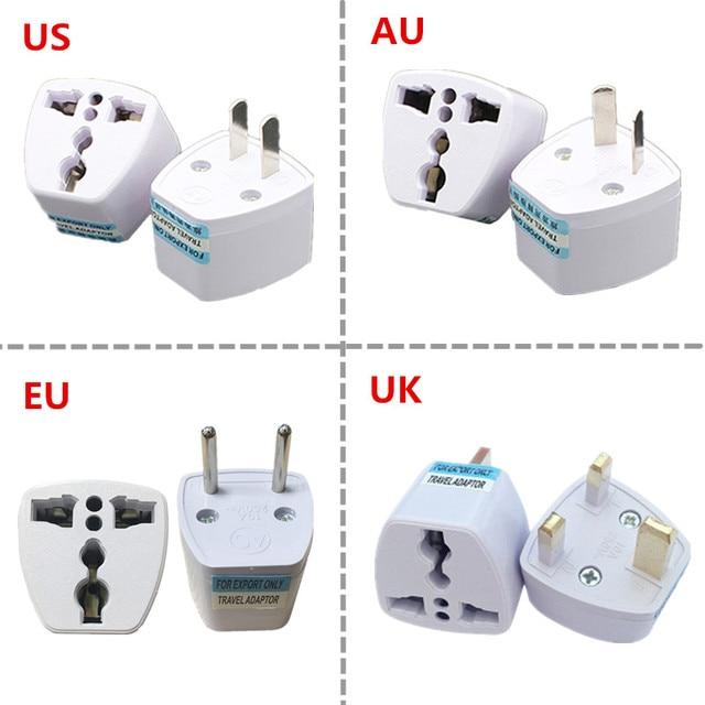 1PC Universal US UK AU Zu EU Stecker USA Zu Euro Europa Reise Wand Ladegerät AC Outlet Adapter konverter 2 Runde Pin Buchse