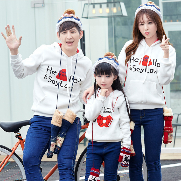 Family Matching Clothing Family of Three Spring Suit Set Family Matching Outfits Winter Plus Hoodies