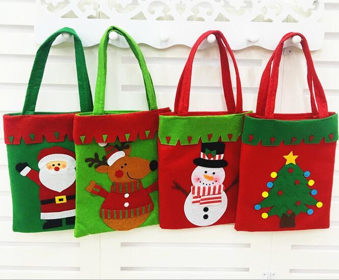 de navidad bolsa de caramelos bolsa de regalo de navidad hecho a mano bolsa