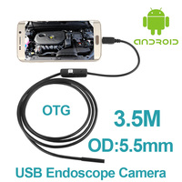 10pcs Lot Android Phone OTG Inspection Camera 3 5M 5 5mm Lens Endoscope Inspection Pipe IP67