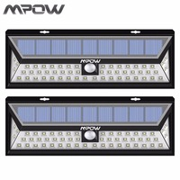 Mpow 2pcs Led Solar Lampion Outdoor Motion Sensor Garden Light Waterproof Security Pathway Emergency Wall Light