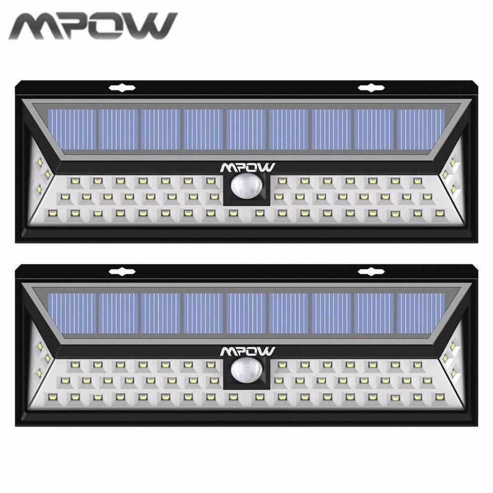 Mpow <font><b>Led</b></font> Solar lampion <font><b>Outdoor</b></font> Motion Sensor Garden <font><b>Light</b></font> Waterproof Security Pathway Emergency Wall <font><b>Light</b></font> 1188 lumens Lamp