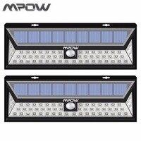 Mpow 2pcs Led Solar Lampion Outdoor Motion Sensor Garden Light Waterproof Security Pathway Emergency Wall Light