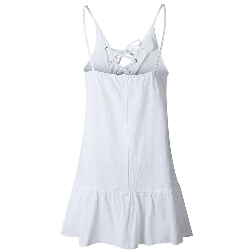 Forefair Summer Cotton Linen Dress Women A Line Mini (6)