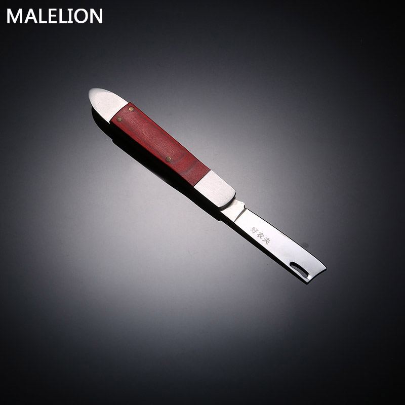 MALELION Garden Tools Collapsible Grafting Knife Seedlings Fruit Tree Double Blade Grafting Tool Portable Grafting Knife