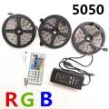 5m10m 15m RGB LED Strip light SMD 5050 30LEDs/M Flexible Non Waterproof led tape ribbon+44keys Remote Controller+ dc12V adapter