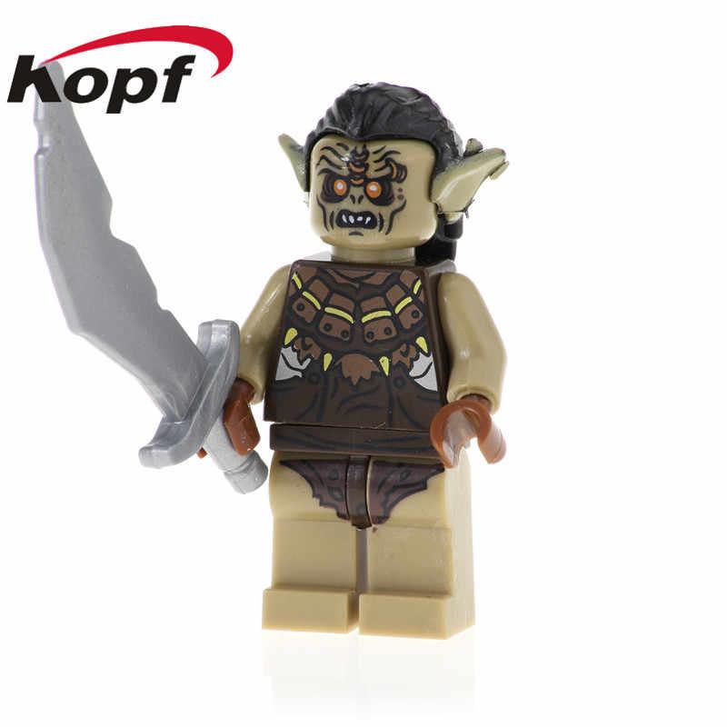 Đĩa đơn Bán tranh Chúa Nhân Vật Siêu Anh Hùng Uruk-Hal Frodo Baggins Bombur Khối Xây Dựng Trẻ Em Quà Tặng đồ chơi PG536