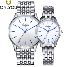 ONLYOU Classic Women Watches Couple Lover Wristwatch Gift Rose Gold Stainless Steel Band Minimalist Quartz Hour Clock Hot Sale