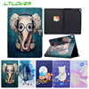 Cartoon Owl Arctic Fox Magnetic Stand Leather Cover For Apple IPad Pro 10 5 Inch Tablet