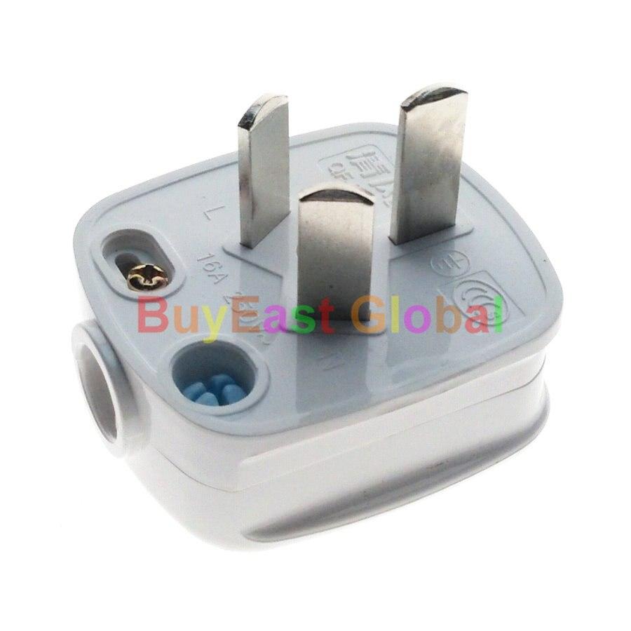 (1 pc) 16Amp Chine 3 Plat Broches Mâle Principal Plug Power AC100 ~ 250 v 16A (Travail Avec Xiaomi smart compagnon)
