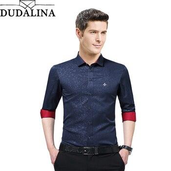 Overhemd Mannen.Dudalina Nieuwe Aangekomen Merk Kleding Man Shirt Lange Mouw