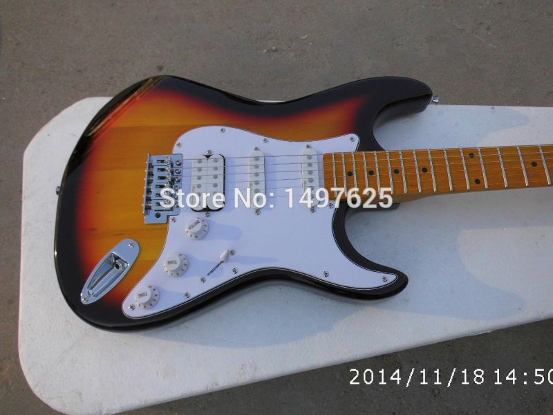 Free shipping Wholesale new guitarra fen st sunburst color electric guitar/with S S H pickups guitar in china