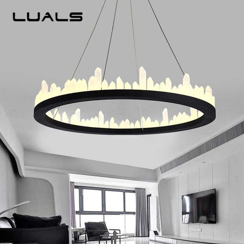 Luxury Modern Crystal Pendant Lamp Creative Round Iron Art Home Lighting For Living Room Bedroom Led Pendant Light Indoor Lights modern crystal lamp round shape led pendant light for bedroom living room lighting