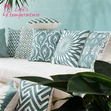 Nordic Green 45*45cm 100% Cotton Floral Pattern Embroidery Decorative Cushion Cover For Sofa Bedroom Pillow case cover цены