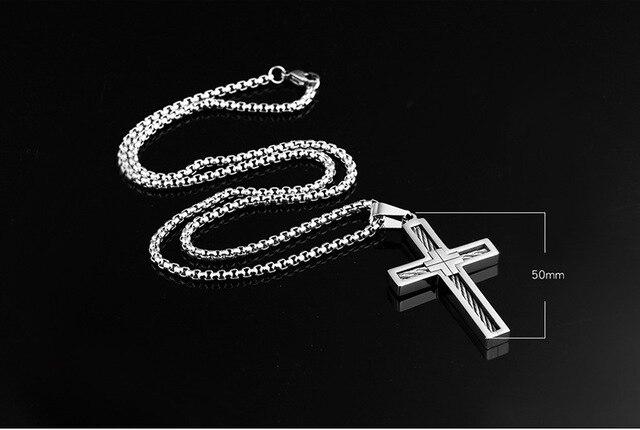 Ожерелье унисекс Винтажное с крестом ювелирное изделие подвеской