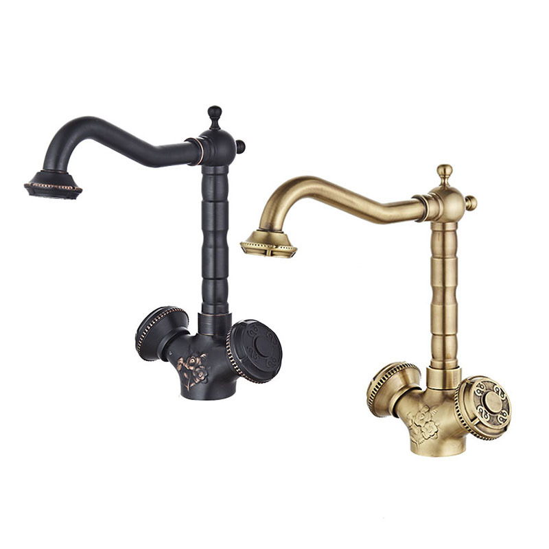 Free Shipping ORB Black Bathroom Faucet Sink Basin faucet Mixer Tap Cold And Hot Water taps Dual Handle Antique brass JP119L beelee bl8121 cold hot water copper basin faucet for bathroom single handle sink wash basin tap water tap free shipping