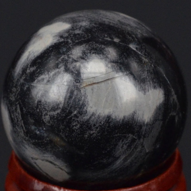 Free Shipping Natural Gemstone 30MM Silver Leaf Jasper Sphere Crystal Ball Chakra Healing Reiki Carving Crafts  With Stand