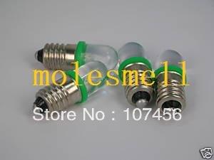 Free Shipping 100pcs GREEN E10 12V Led Bulb Light Lamp For LIONEL 1447